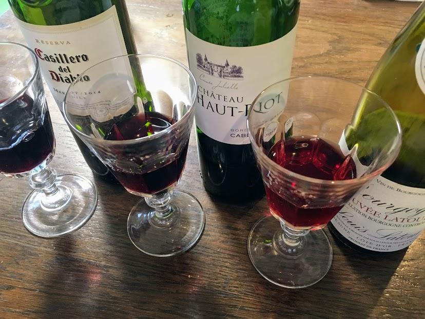 赤ワイン テイスティング